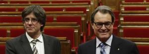 Carles Puigdemont  (a sinistra) e Artur Mas