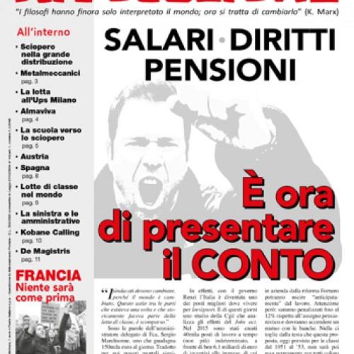 Salari, diritti, pensioni – È ora di presentare il conto!