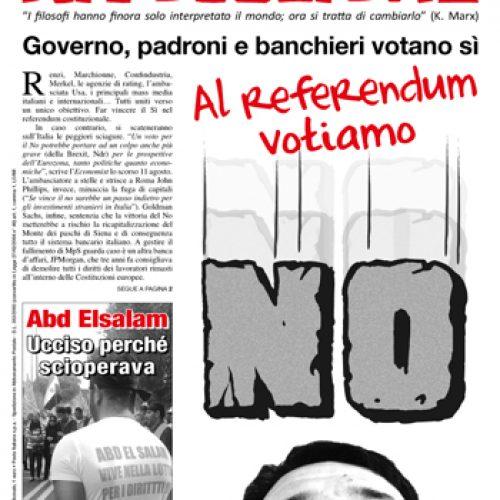 Al referendum votiamo NO!