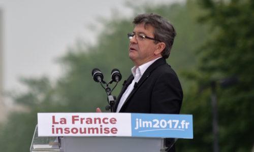 "Melenchon e ""Francia ribelle"" dicono no al banchiere!"