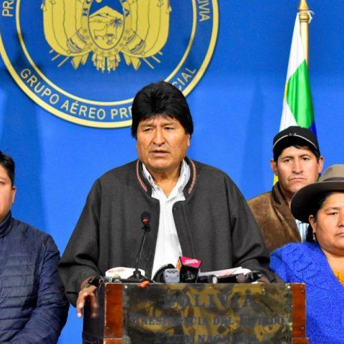 Bolivia – Un colpo di stato reazionario costringe Evo Morales alle dimissioni