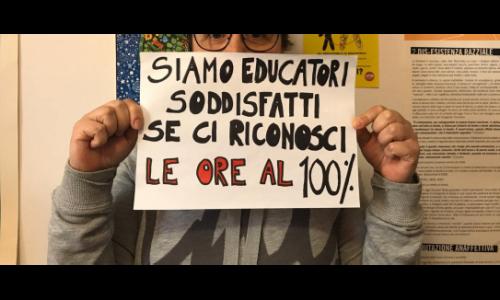 Coronavirus e educatori: Vogliamo il 100% dello stipendio!