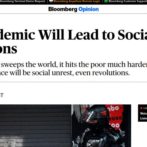 """""""Questa pandemia condurrà a rivoluzioni sociali""""  – I veri timori della borghesia"""