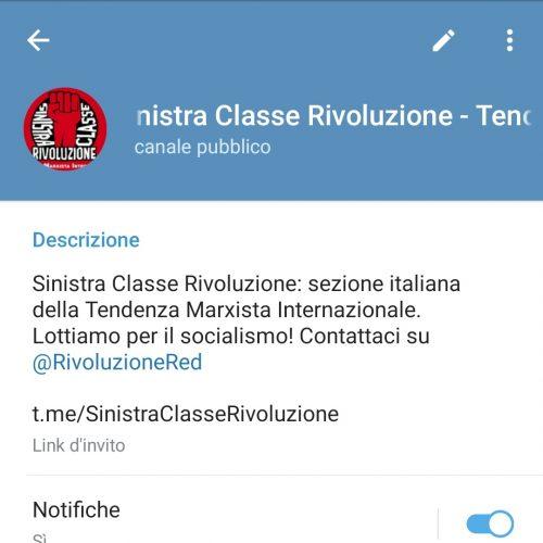 Il nuovo canale Telegram di SCR!