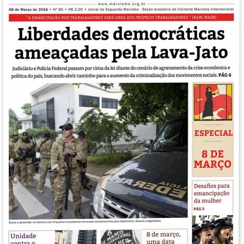 Lula – L'azione della Polizia Federale, del potere giudiziario e della stampa borghese e i loro obiettivi reazionari.