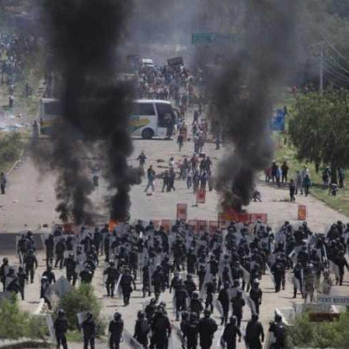 Repressione a Oaxaca, fermiamo la controriforma dell'Istruzione e questo governo di assassini!