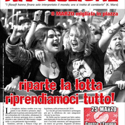 8 marzo, migliaia in piazza – Riparte la lotta, riprendiamoci tutto!