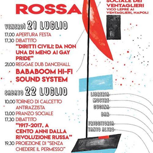A Napoli Venerdì 21 e sabato 22 sarà FESTA ROSSA!