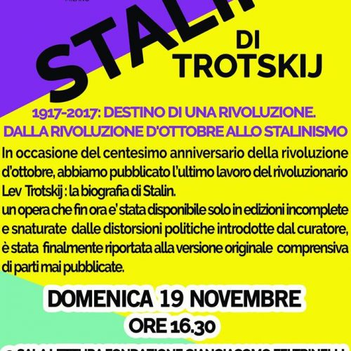 """""""Stalin"""" di Lev Trotskij, alla rassegna Bookcity di Milano!"""