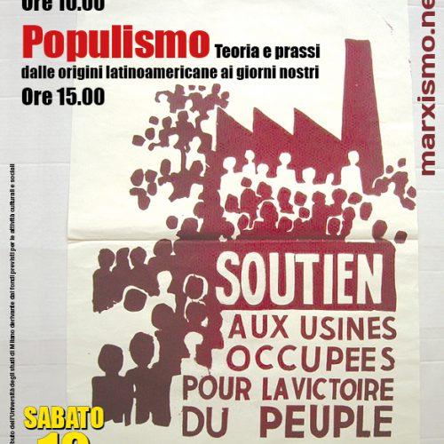 Milano, sabato 12 maggio – Seminario su Maggio 68 e populismo
