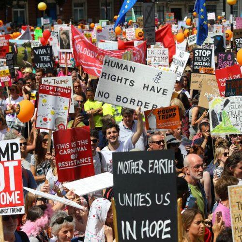 Londra – Il corteo di massa contro Trump svela i veri rapporti di forza nella società