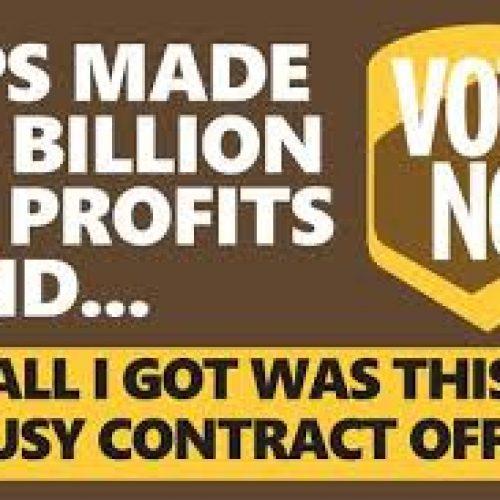 UPS – USA: Sosteniamo il NO! all'accordo sindacale