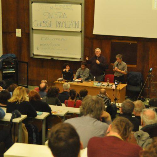 Grande successo della prima assemblea in Italia di Alan Woods!