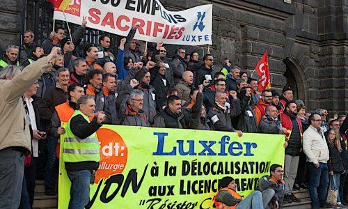 Francia – La lotta dei lavoratori della Luxfer per la nazionalizzazione dell'azienda