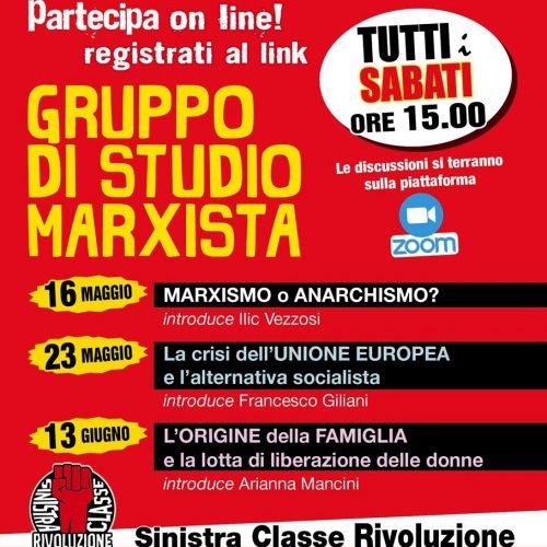 Inizia il secondo ciclo dei Gruppi di studio marxista!