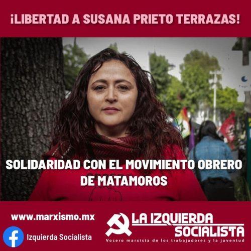 Messico – Susana Prieto Terrazas libera subito! Solidarietà con il movimento 20/32