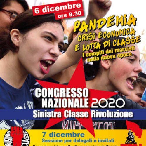 5-6-7 dicembre 2020: Congresso nazionale di Sinistra classe rivoluzione