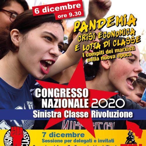 XXI CONGRESSO DI SINISTRA CLASSE RIVOLUZIONE – È un momento eccezionale per essere dei rivoluzionari!
