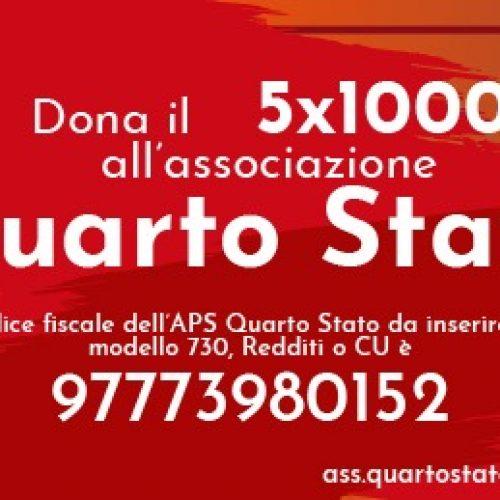 Dona il 5 per 1000 alla Associazione Quarto Stato