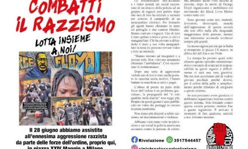 Milano – Combatti il razzismo, lotta insieme a noi!